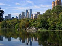 Central Park Lake, New York City, USA
