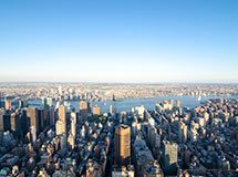 Manhattan from the observation deck of Empire State Building, New York City, USA