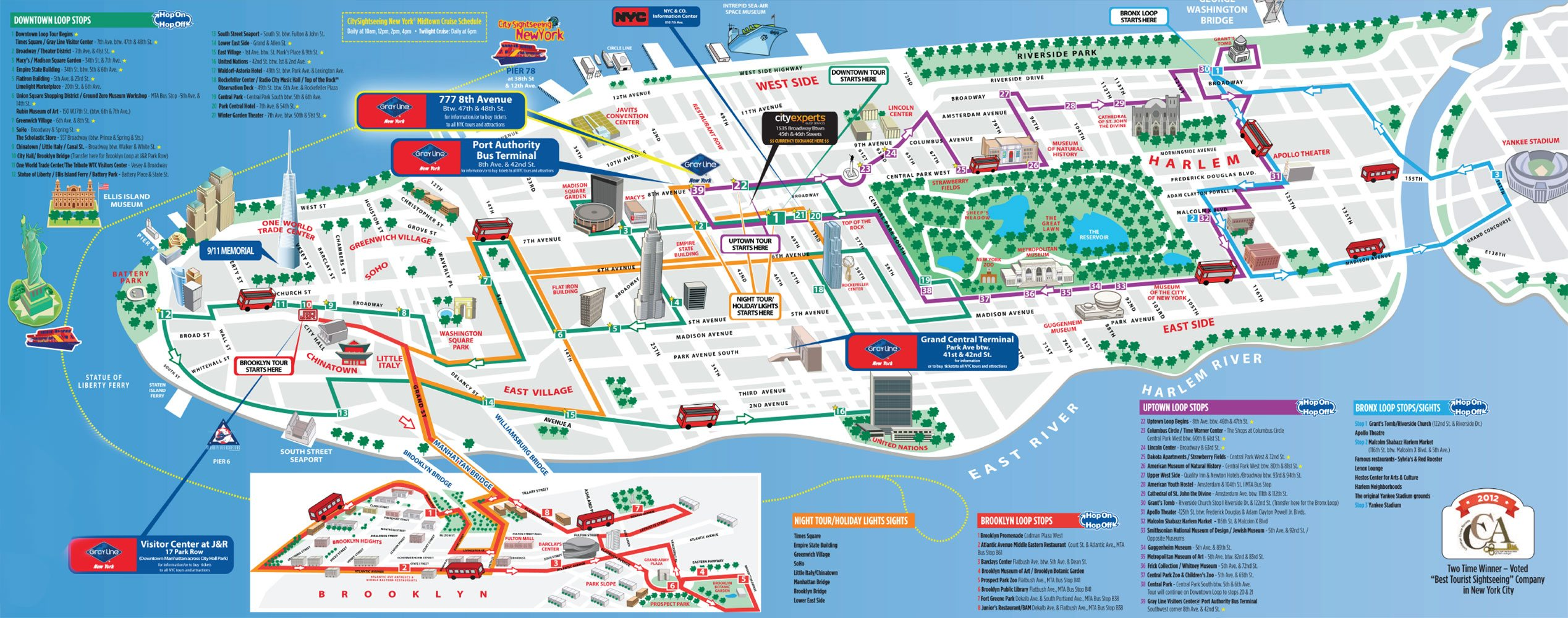 Map Of Attractions In New York City – New York City Map With Tourist Attractions