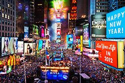 New Year's Eve in Times Square, New York City, USA