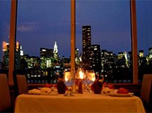 Romantic dinner in New York